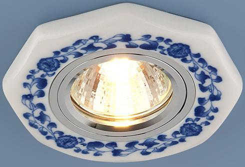 Встраиваемый светильник Elektrostandard 9033 керамика MR16 бело-голубой (WH/BL) 4690389018787 встраиваемый светильник elektrostandard 9034 керамика mr16 бело голубой wh bl 4690389018770
