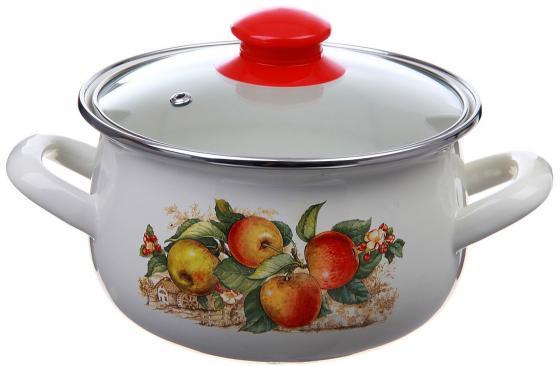 """Кастрюля INTEROS """"Яблоки"""" 24 см 5.7 л эмалированная сталь 15199 цены онлайн"""