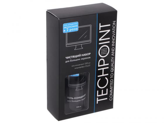 Чистящий набор Techpoint 2010 гель-концентрат 250мл + микрофибра 25х25см набор для ухода за смартфонами и планшетами для сенсорных экранов гель 30мл микрофибра чехол techpoint 1004 on the go cleaning kit