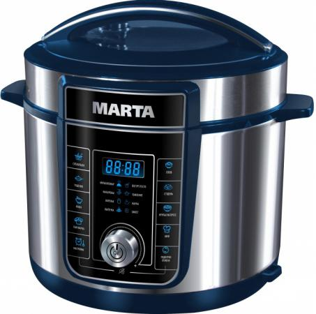 Мультиварка Marta MT-4321 900 Вт 5 л серебристый синий масляный радиатор marta mt 2422