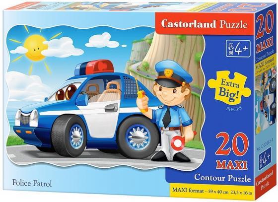 все цены на Пазл 20 элементов Кастор 20 maxi Полицейский патруль