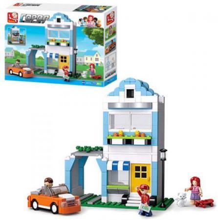 Конструктор SLUBAN Город - Двухэтажный дом 305 элементов конструктор sluban дом с машиной 305 элементов m38 b0572