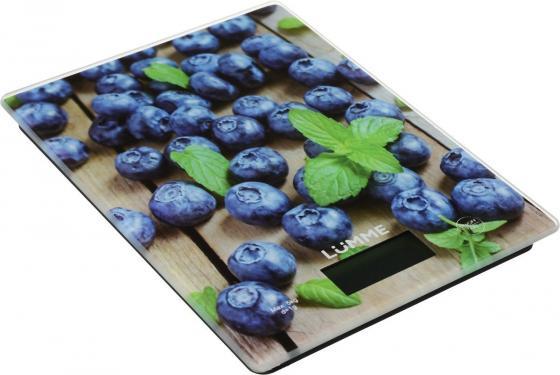 Весы кухонные Lumme LU-1340 рисунок черничная россыпь