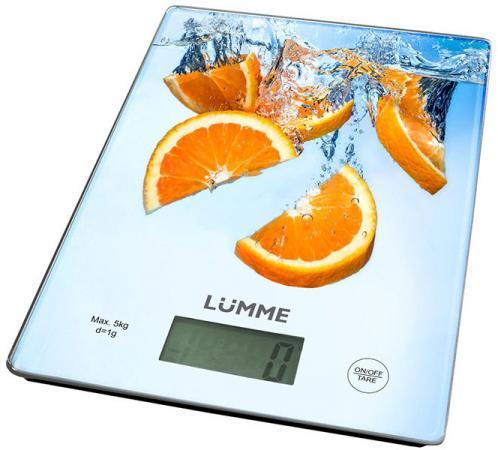 Весы кухонные Lumme LU-1340 апельсиновый фреш разноцветный рисунок