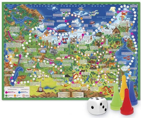 Настольная игра ходилка Геодом Путешествие по России arsstar настольная игра elfenland волшебное путешествие