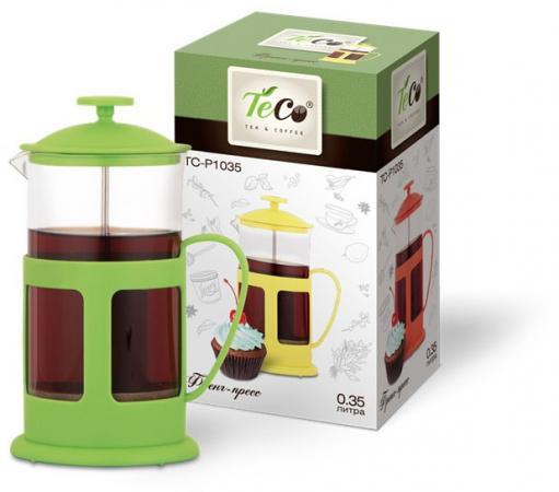 Френч-пресс Teco TC-P1035-G зелёный 0.35 л пластик/стекло френч пресс teco tc p1035
