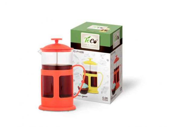 Френч-пресс Teco TC-P1035-R красный 0.35 л пластик/стекло френч пресс teco tc p1035