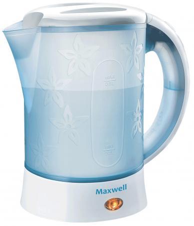 Чайник Maxwell MW-1072 B 600 Вт белый 0.6 л пластик чайник maxwell mw 1072 b