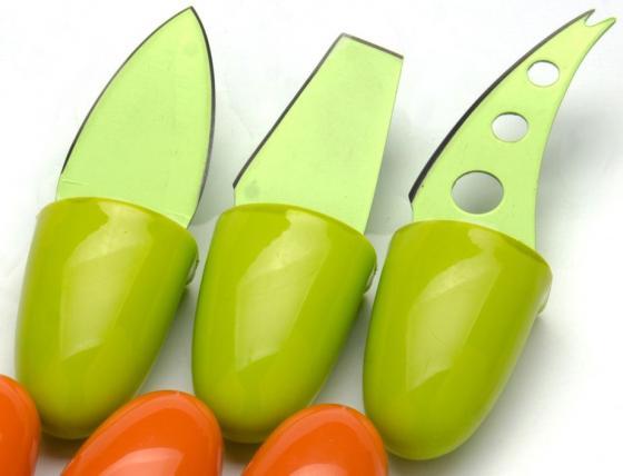 Набор ножей Mayer&Boch МВ-24188 3 предмета для сыра зеленый набор для фондю из 8 предметов mayer and boch мв 21379