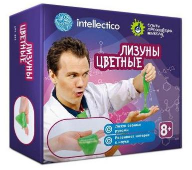 """Набор для экспериментов INTELLECTICO """"Опыты с профессором Николя"""" - Лизуны цветные 855 intellectico набор для опытов с профессором николя горячий лёд"""