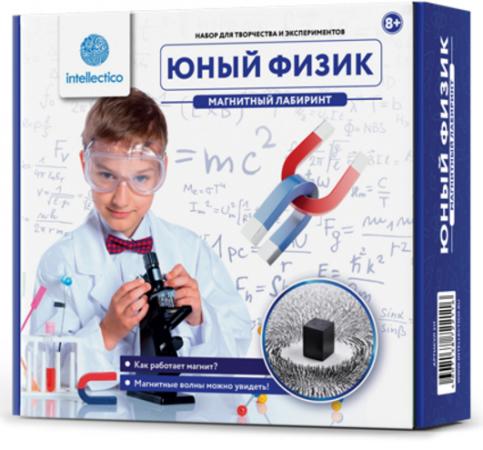 """Игровой набор INTELLECTICO Юный физик """"Магнитный лабиринт"""" 211 intellectico набор для опытов юный физик ракета своими руками"""