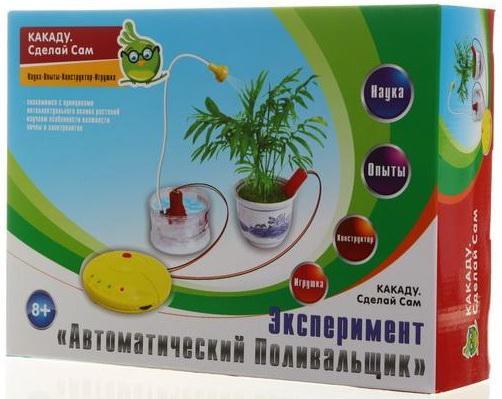 Игровой набор Kakadu Сделай Сам Эксперимент - Автоматический Поливальщик ELEK-D030 игровой набор kakadu сделай сам робот работающий на солёной воде