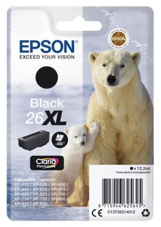 Картридж Epson C13T26214012 для Epson XP-600/605/700/710/800 черный 500стр модуль памяти hp 8gb 1rx4 pc3 12800r 11 kit 647899 b21