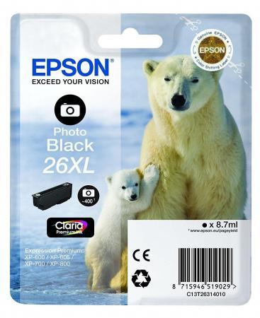 Картридж Epson C13T26314012 для Epson XP-600/605/700/710/800 черный 500стр картридж epson t2601 c13t26014012 для epson xp 600 700 800 черный