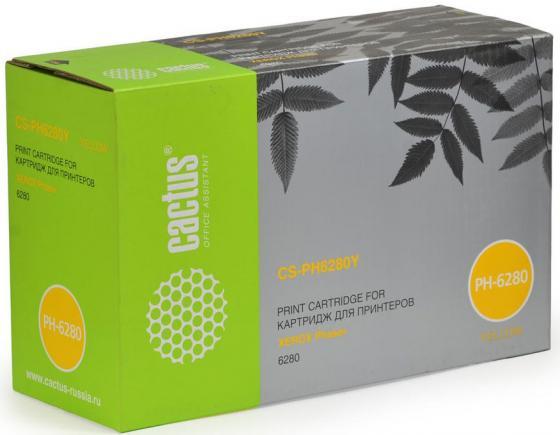 Картридж Cactus CS-PH6280YR 106R01402 для Xerox Phaser 6280 желтый 5900стр картридж cactus cs ph6121y для xerox phaser 6121 желтый 2600стр