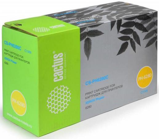 Картридж Cactus CS-PH6280CR 106R01400 для Xerox Phaser 6280 голубой 5900стр принт картридж 106r01400