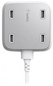 Автомобильное зарядное устройство Belkin F8M990VFWHT-APL 4.8 А 4 x USB белый автомобильное зарядное устройство hama auto detect 54183 4 x usb 4 8 а черный