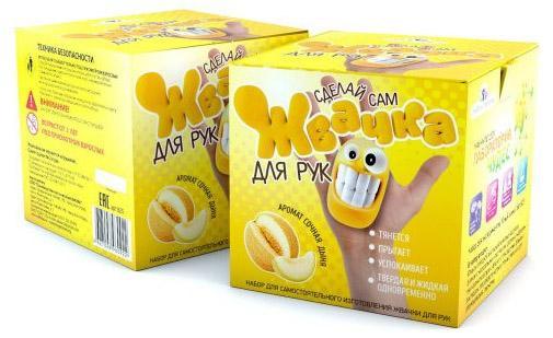 Игровой набор Инновации для детей Юный Химик Жвачка для рук - Сочная дыня 825 бусы winter wings n07304 прозрачный 25 мм 1 м 1 шт стекло