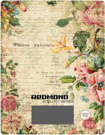 Весы кухонные Redmond RS-736 рисунок цветы весы redmond rs 736 полоски