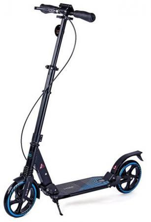 Самокат двухколёсный X-Match Eternity 8 черный 64983 самокат трехколёсный x match скутер голубой 125 мм pvc светящ 100% легкосплавн 64459