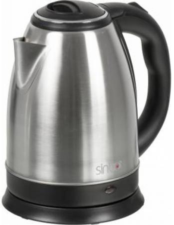 Чайник Sinbo SK 7362 2200 Вт серебристый чёрный 1.8 л нержавеющая сталь чайник sinbo sk 7319 2000 вт 1 7 л пластик белый
