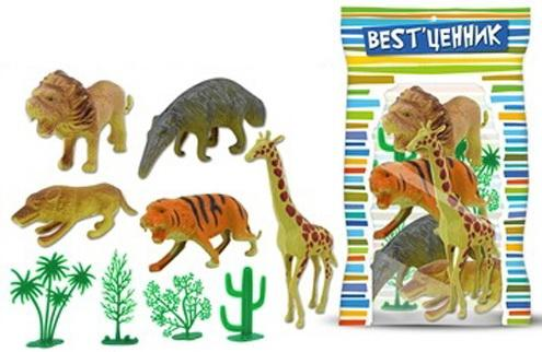 Игровой набор S+S Toys Дикие животные игровой набор playmates toys патрульные багги леонардо и донателло