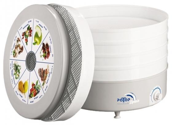 Сушилка для овощей и фруктов Ротор Дива СШ-007-06 белый серый цена и фото