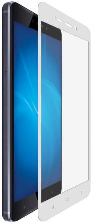 Защитное стекло DF xiColor04 для Xiaomi Redmi 4 с рамкой белый