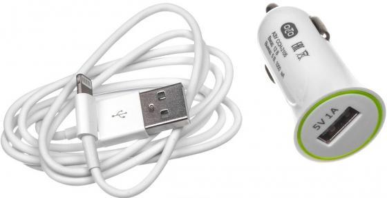 Автомобильное зарядное устройство Olto CCH-2105 HARPER-O00000563 1A USB 8-pin Lightning белый автомобильное зарядное устройство jet a uc i15 2 1a usb 8 pin lightning черный