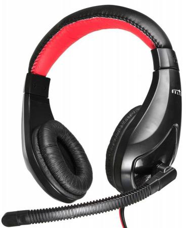цена на Гарнитура Oklick HS-L100 черный красный