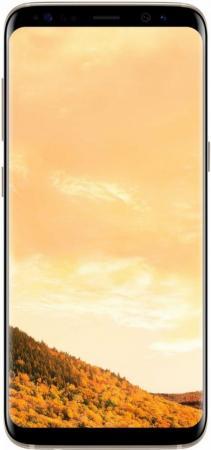 Смартфон Samsung Galaxy S8 желтый топаз 5.8 64 Гб NFC LTE Wi-Fi GPS 3G SM-G950FZDDSER смартфон samsung galaxy j3 2016 белый 5 8 гб lte wi fi gps 3g duos sm j320fzwdser
