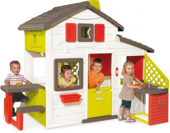 Игровой домик Smoby с кухней 810200 игровой комплекс smoby приключения 310048