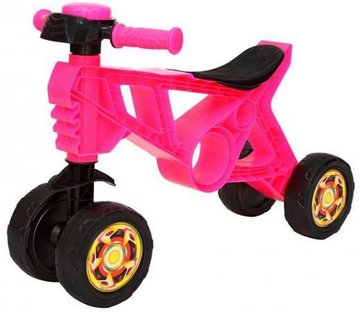 Каталка-беговел четырёхколёсный RT Самоделкин розовый беговел rt hobby bike magestic 10 красно черный