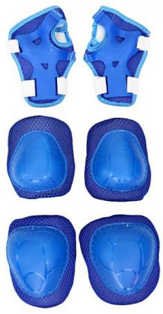 Комплект защиты Rich Toys YWHJ-022 144405 M синий велосипед двухколёсный rich toys ba camilla 14 1s розовый kg1417
