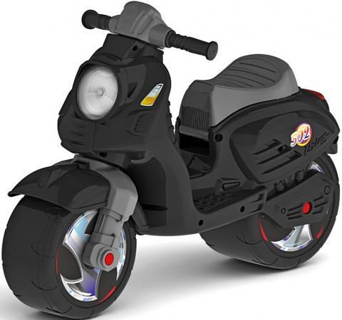Каталка-мотоцикл двухколёсный RT Скутер черный ОР502