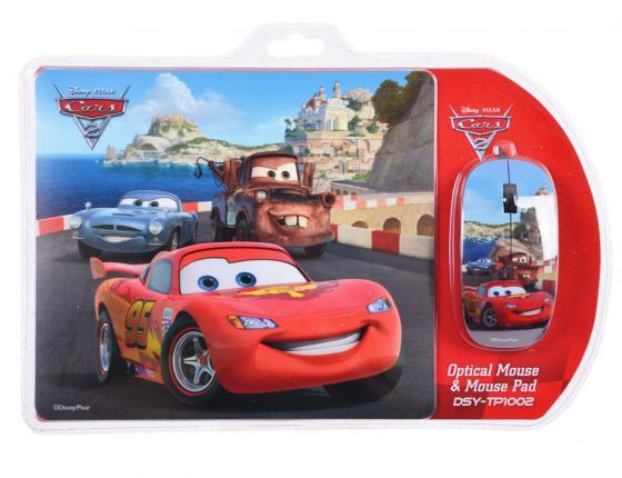 все цены на Мышь проводная Cirkuit Planet DSY-TP1002 Cars рисунок USB + коврик онлайн