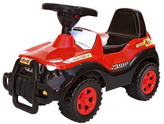 Каталка-машинка R-Toys Джипик пластик от 8 месяцев с клаксоном черный с красным 105 все цены