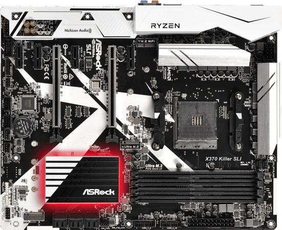 Материнская плата ASRock X370 Killer SLI Socket AM4 AMD B350 4xDDR4 2xPCI-E 16x 4xPCI-E 1x 6xSATAIII ATX Retail материнская плата asrock x370 taichi