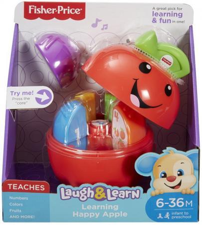 """Интерактивная игрушка Fisher Price """"Смейся и учись"""" Обучающая игрушка """"Яблочко"""" от 1 года разноцветный fisher price игрушка обучающая игрушка бибель"""