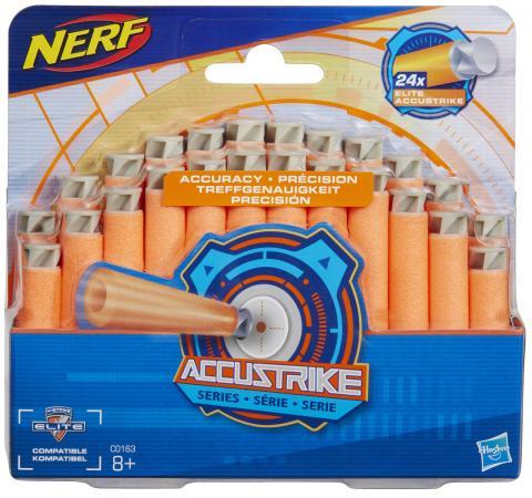 Набор стрел для бластеров Nerf Аккустрайк оранжевый 24 стрелы C0163 набор стрел для бластеров nerf аккустрайк оранжевый