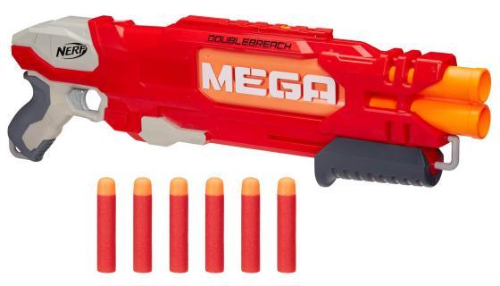 """Бластер Hasbro Nerf Мега """"Даблбрич"""" красный B9789 игрушечное оружие nerf hasbro мега бластер даблбрич"""