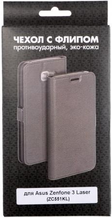 Чехол DF aFlip-08 для Asus ZenFone 3 Laser ZC551KL чехол книжка asus view flip для zenfone 3 zc551kl