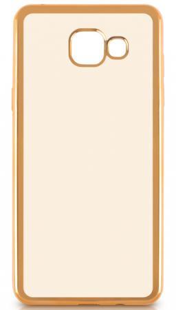 Чехол силиконовый DF sCase-22 для Samsung Galaxy A3 2016 с рамкой золотистый чехол силиконовый df scase 24 с рамкой для samsung galaxy a7 2016 черный