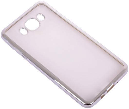 Чехол силиконовый DF sCase-30 для Samsung Galaxy J7 2016 с рамкой серебристый чехол силиконовый df scase 47 для samsung galaxy j5 2017
