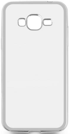 Чехол силиконовый DF sCase-36 для Samsung Galaxy J2 Prime/Grand Prime 2016 с рамкой серебристый ремень с карманом под телефон на руку armband samsung 5 0 for galaxy grand prime g5308w
