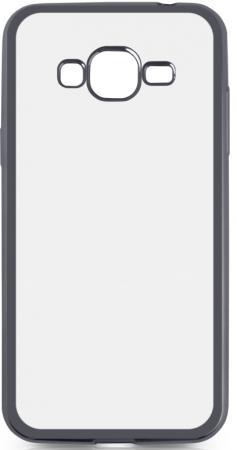 Чехол силиконовый DF sCase-36 для Samsung Galaxy J2 Prime/Grand Prime 2016 с рамкой серый ремень с карманом под телефон на руку armband samsung 5 0 for galaxy grand prime g5308w