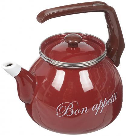 Купить Чайник INTEROS Бордо бордовый 3 л металл 2234