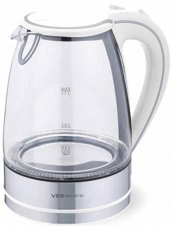 Чайник VES Electric 2005W 2200 Вт белый 1.7 л стекло