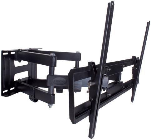 "Кронштейн Kromax PIXIS-XL черный 40""-90"" настенный от стены 75-500мм наклон +3°/-10° VESA 600х400мм до 50кг"