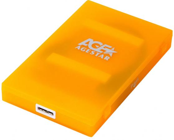 "Внешний контейнер для HDD 2.5"" SATA AgeStar 3UBCP1-6G USB3.0 пластик оранжевый цена и фото"